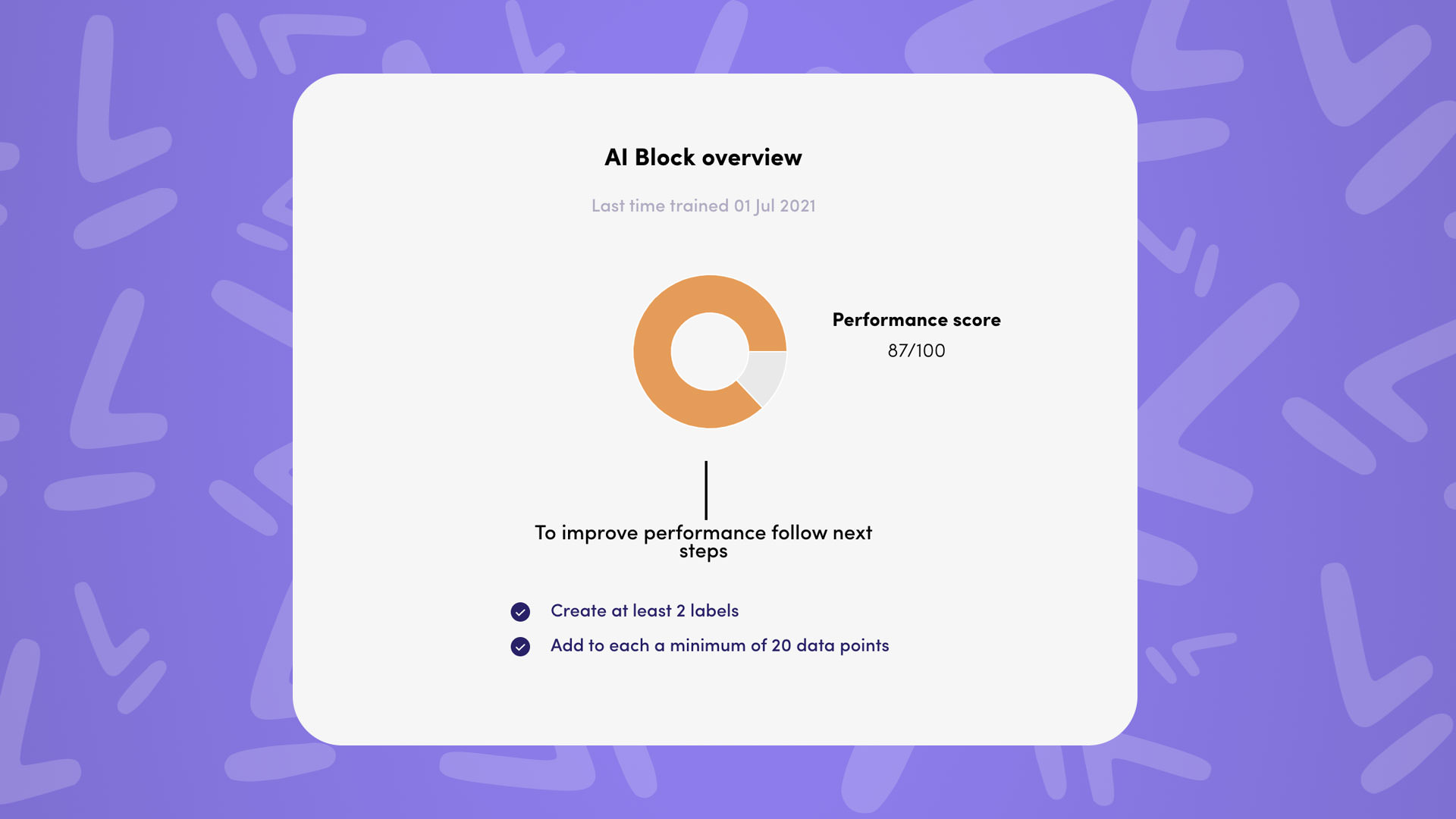 training your ai block and judge its performance