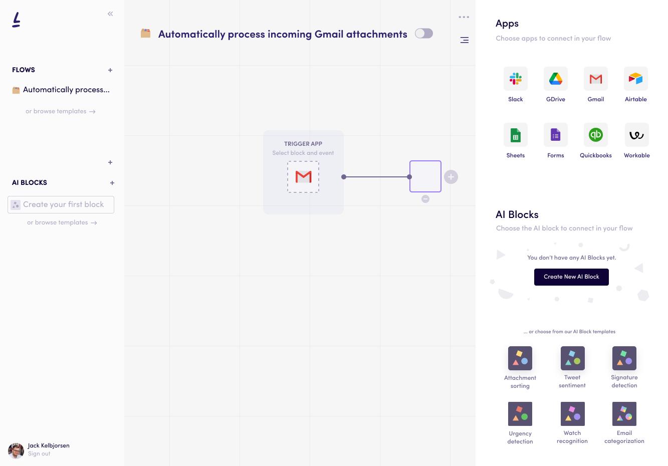 Add AI block on Levity's AI platform