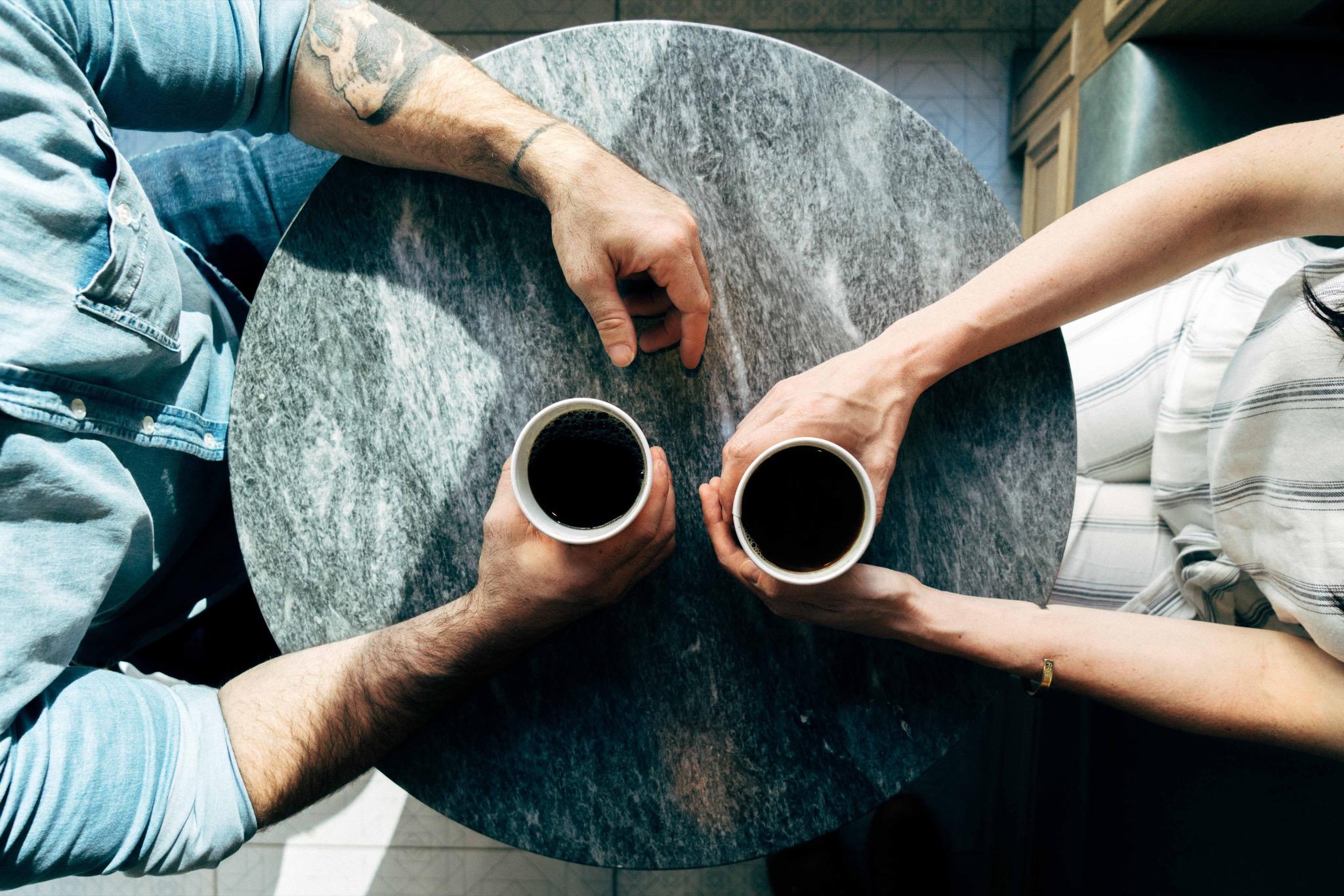 Kaffepause med kollega