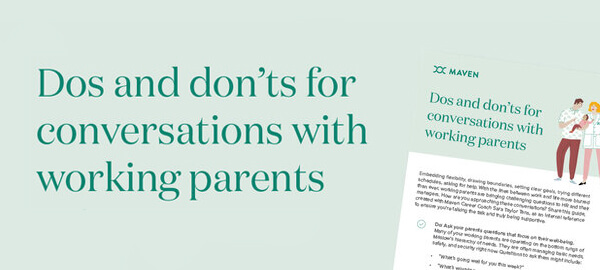 Worksheet: Dos and don'ts for conversations with working parents
