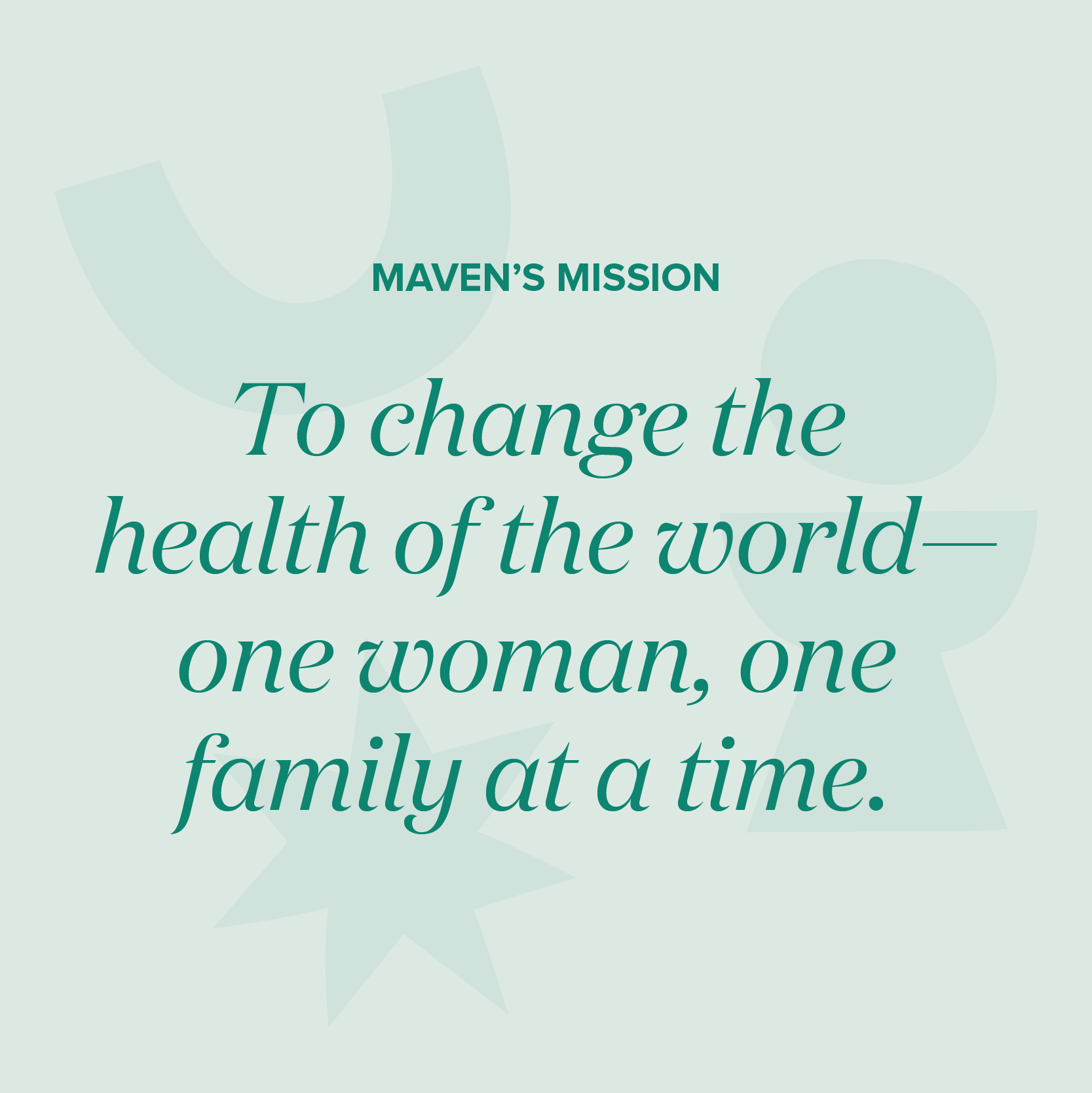 Changing the health of the world—one woman, one family at a time