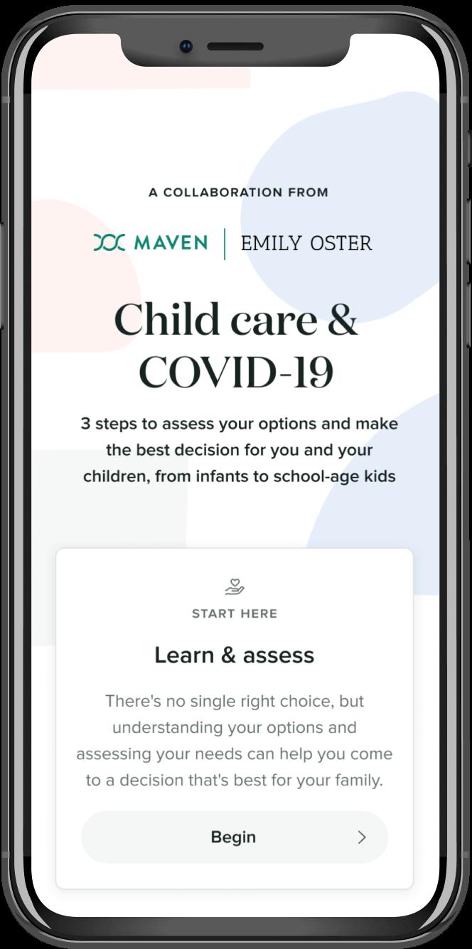 child care covid interface app