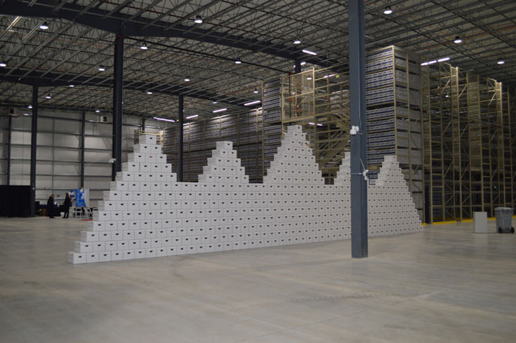 Interior of a warehouse space built using Butler's Widespan Building System.