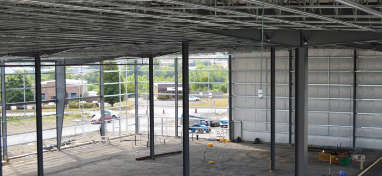 steel building structure and roof