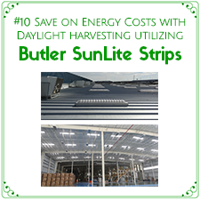 Save on energy costs with Daylight Harvesting utilizing Butler SunLite Strips
