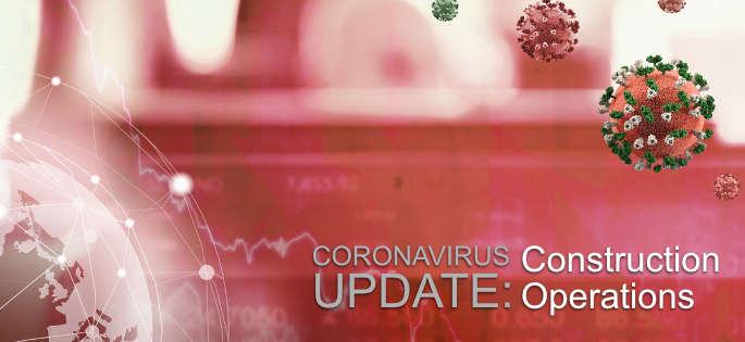 graphic with coronavirus and world