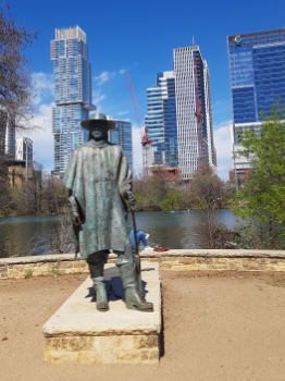 Stevie Ray Vaughan tribute statue in Austin, Texas