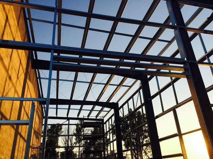 building expansion under construction