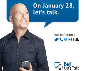 Join the conversation on January 28 for Bell Let's Talk Day!