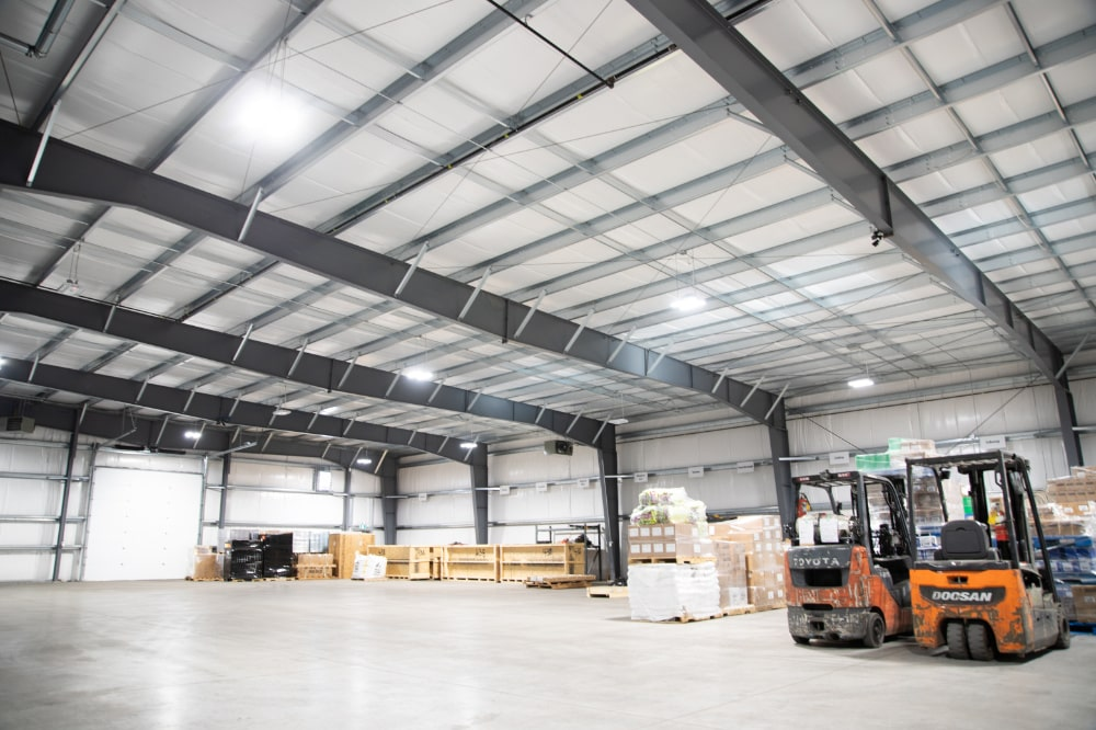 warehouse and loading area
