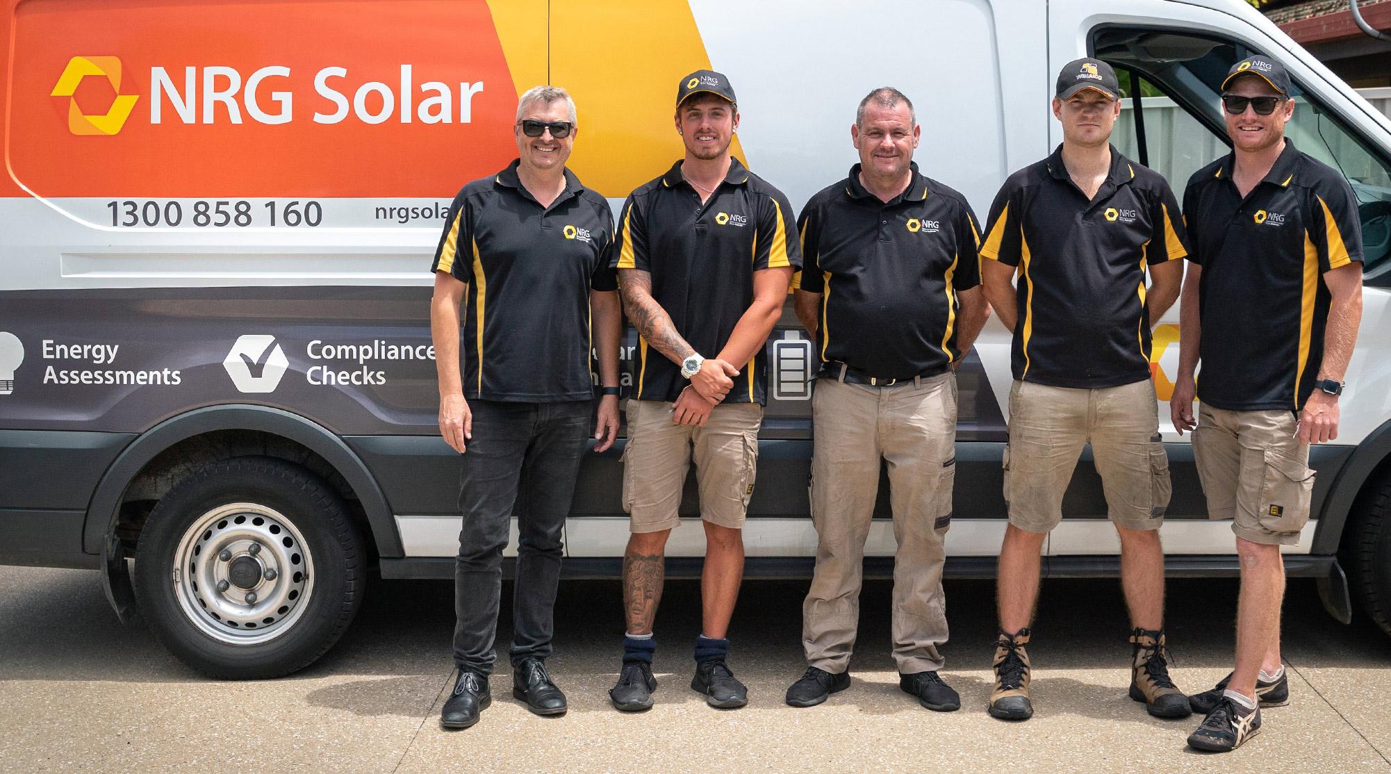 The NRG solar power team of technicians
