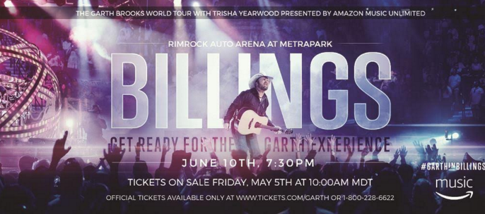 See Garth Brooks Perform in Billings!