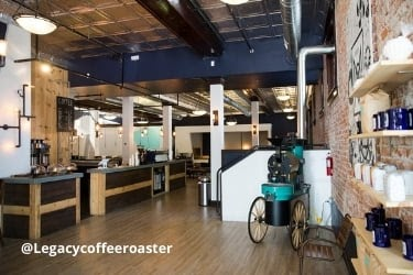 Legacy Coffee Roaster Interior space
