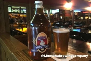 Bottle of beer from Montana Brewing Co.