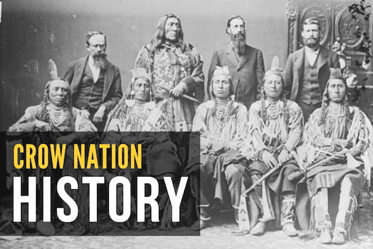 Crow Nation History - Old Photo of Crow People