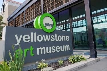 Yellowstone Art Museum sign