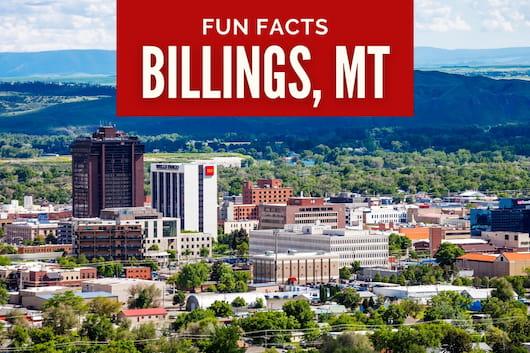 Fun Facts Billings, MT - Aerial shot of Billings, MT