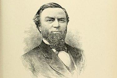 Frederick Billings' portrait drawing