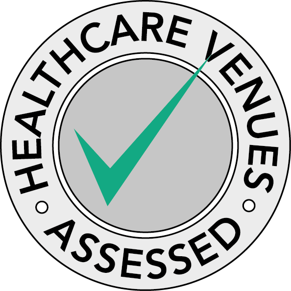 Healthcare venues assessed badge