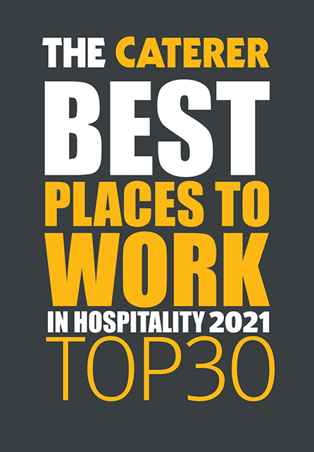 The Caterer Best Places to Work in Hospitality award 2021