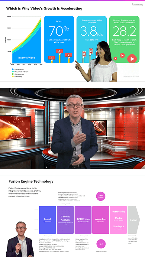 touchcast video conferencing rendering