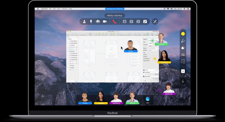 Macbook teamtime Touchcast