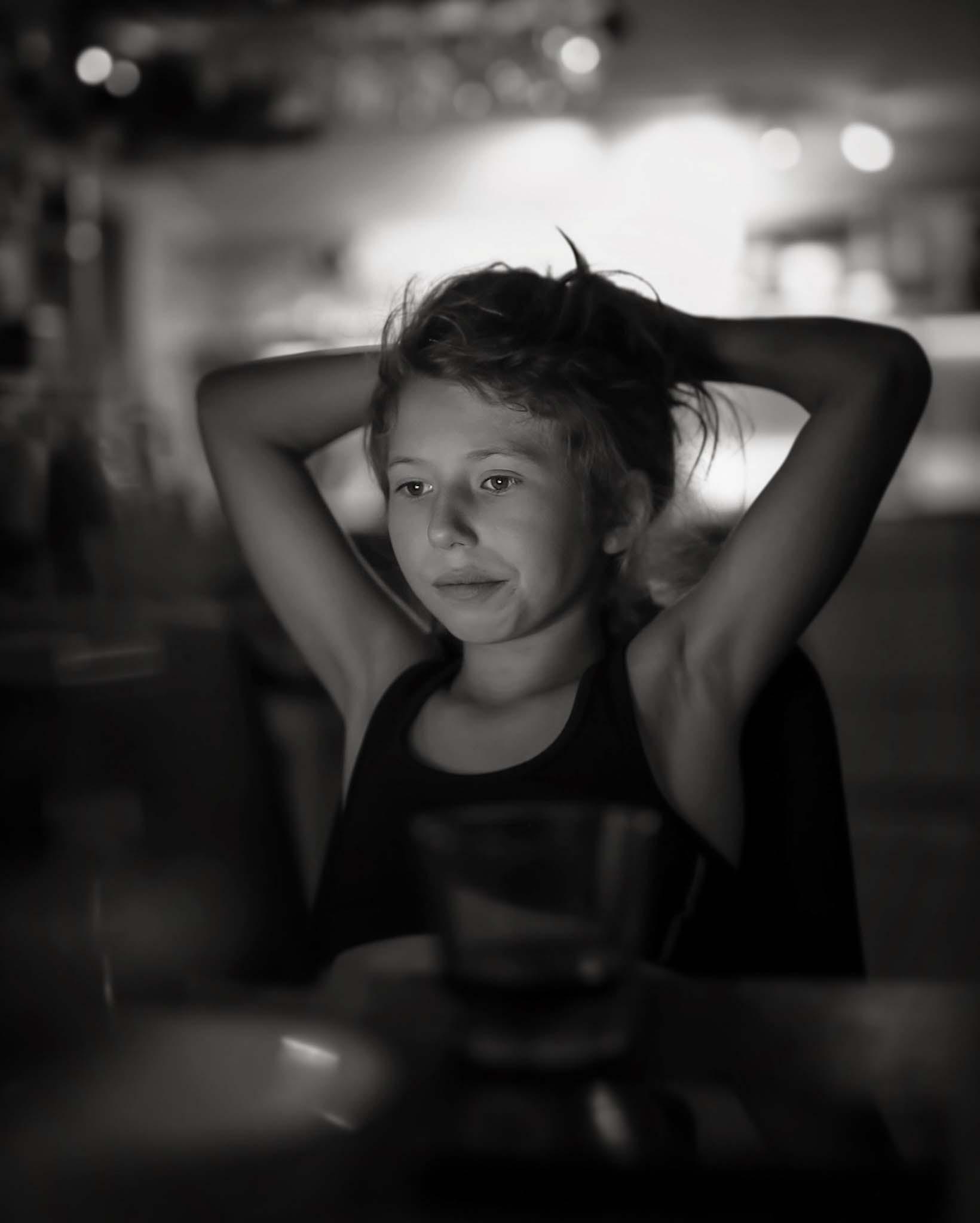 svartvitt porträttfoto