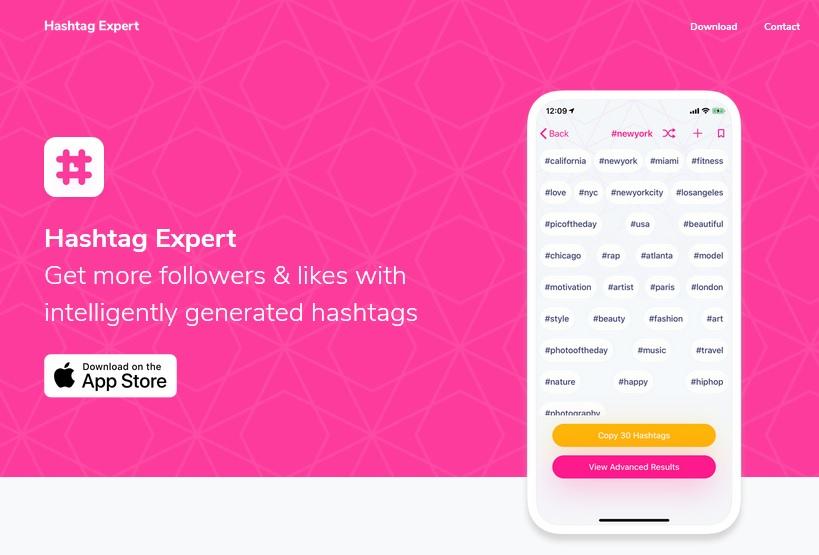 Linkedin hashtag generator app, Hashtag Expert