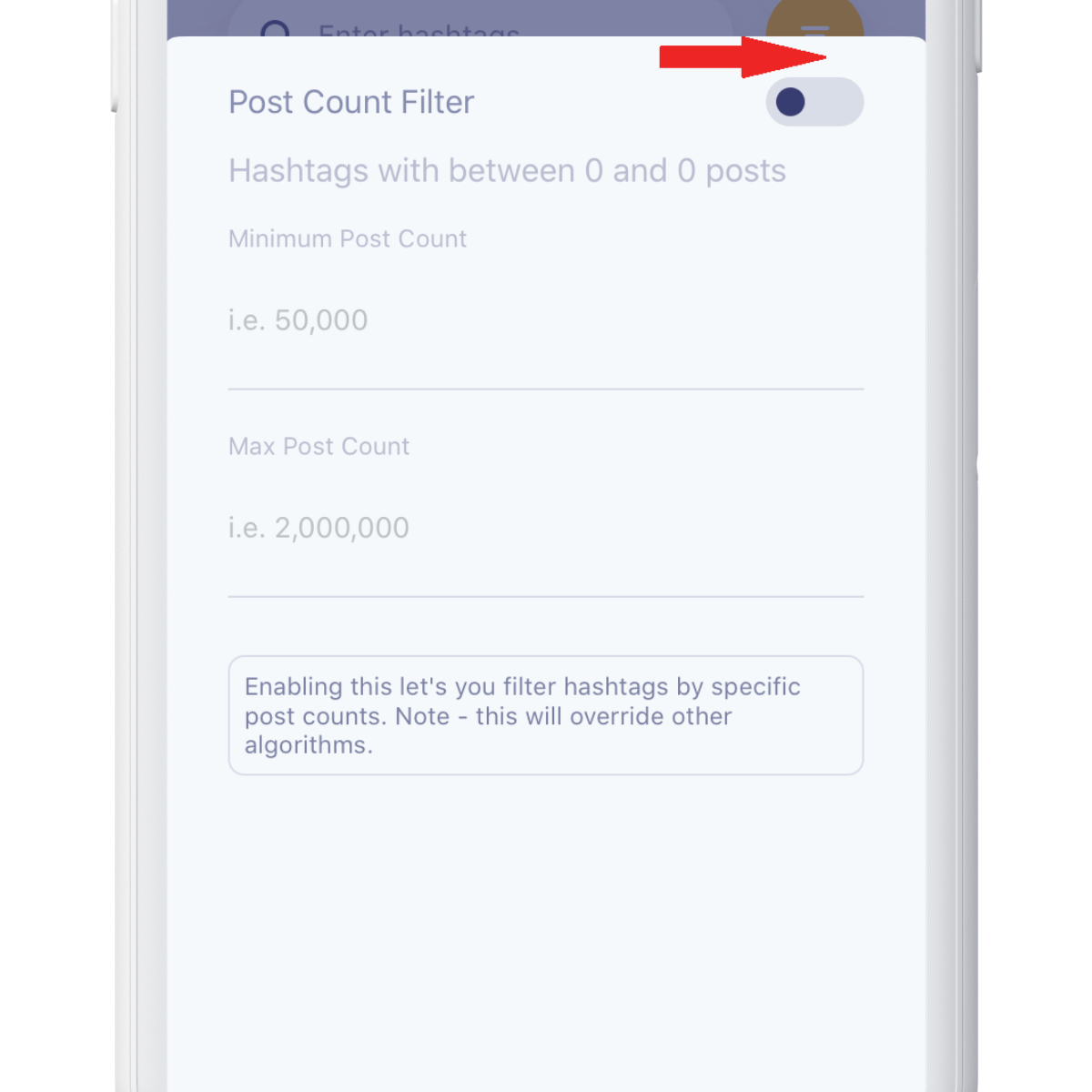 activate post count filter