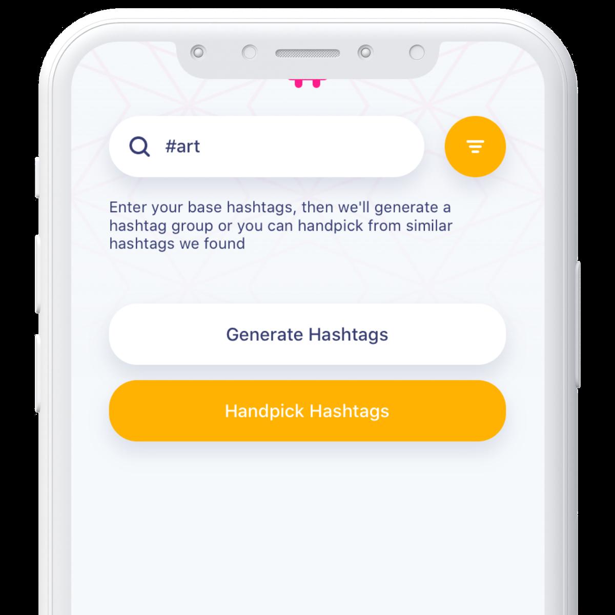 Generate hashtags using Hashtag Expert app