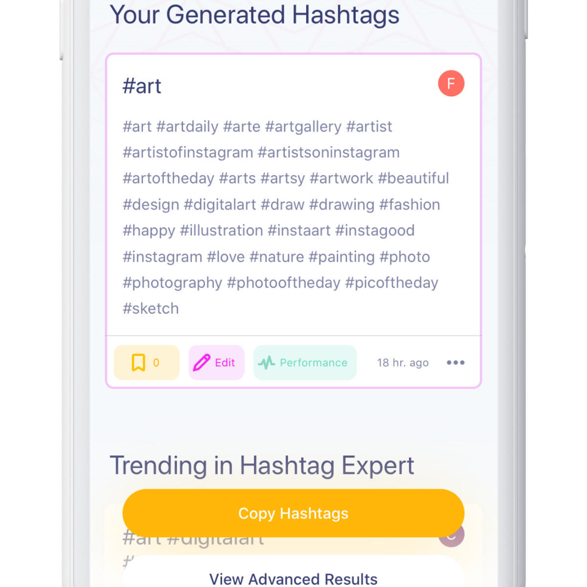 generated hashtags for social media