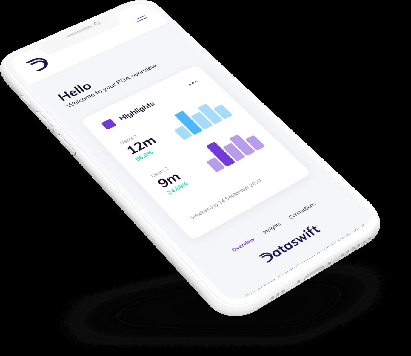 Dataswift mobile illustration
