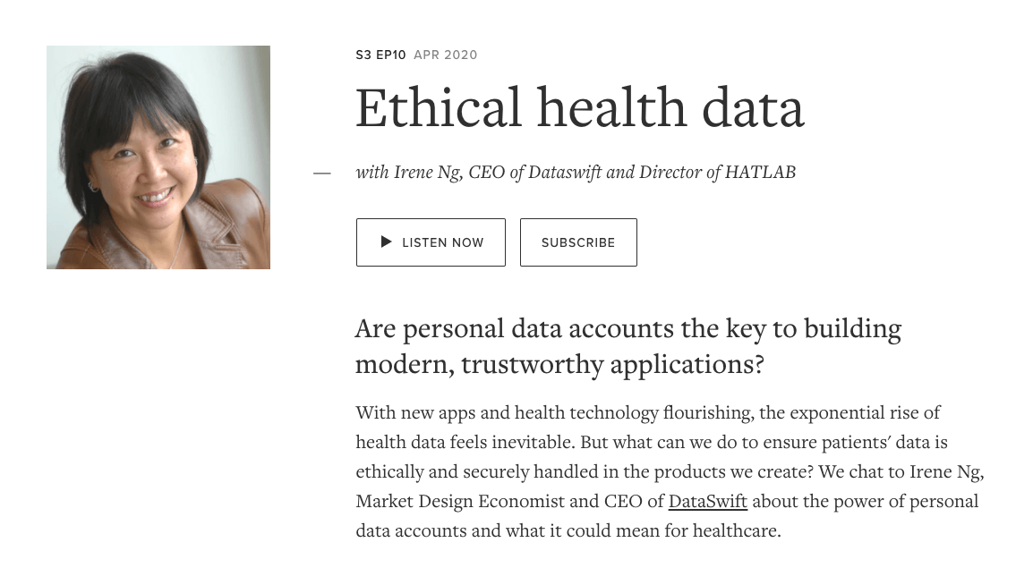Irene Ng: Ethical Health Data