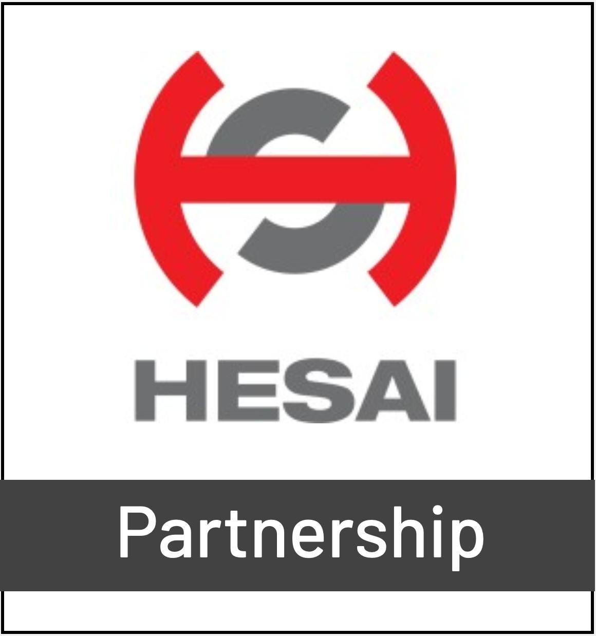 HESAI LIDAR Logo - Partnership with Outsight