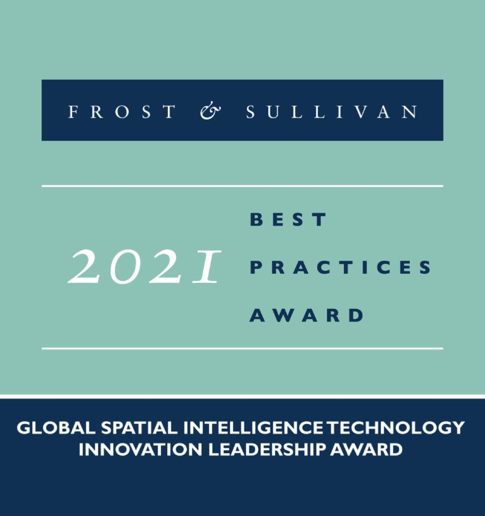 Frost & Sullivan 2021 Best Practices Award for Global Spatial Intelligence