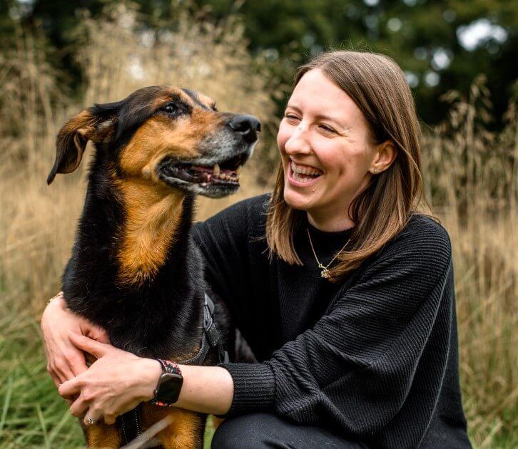 Lauren with her dog