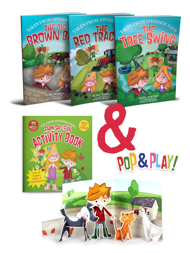 4 Book Set + FREE Pop & Play