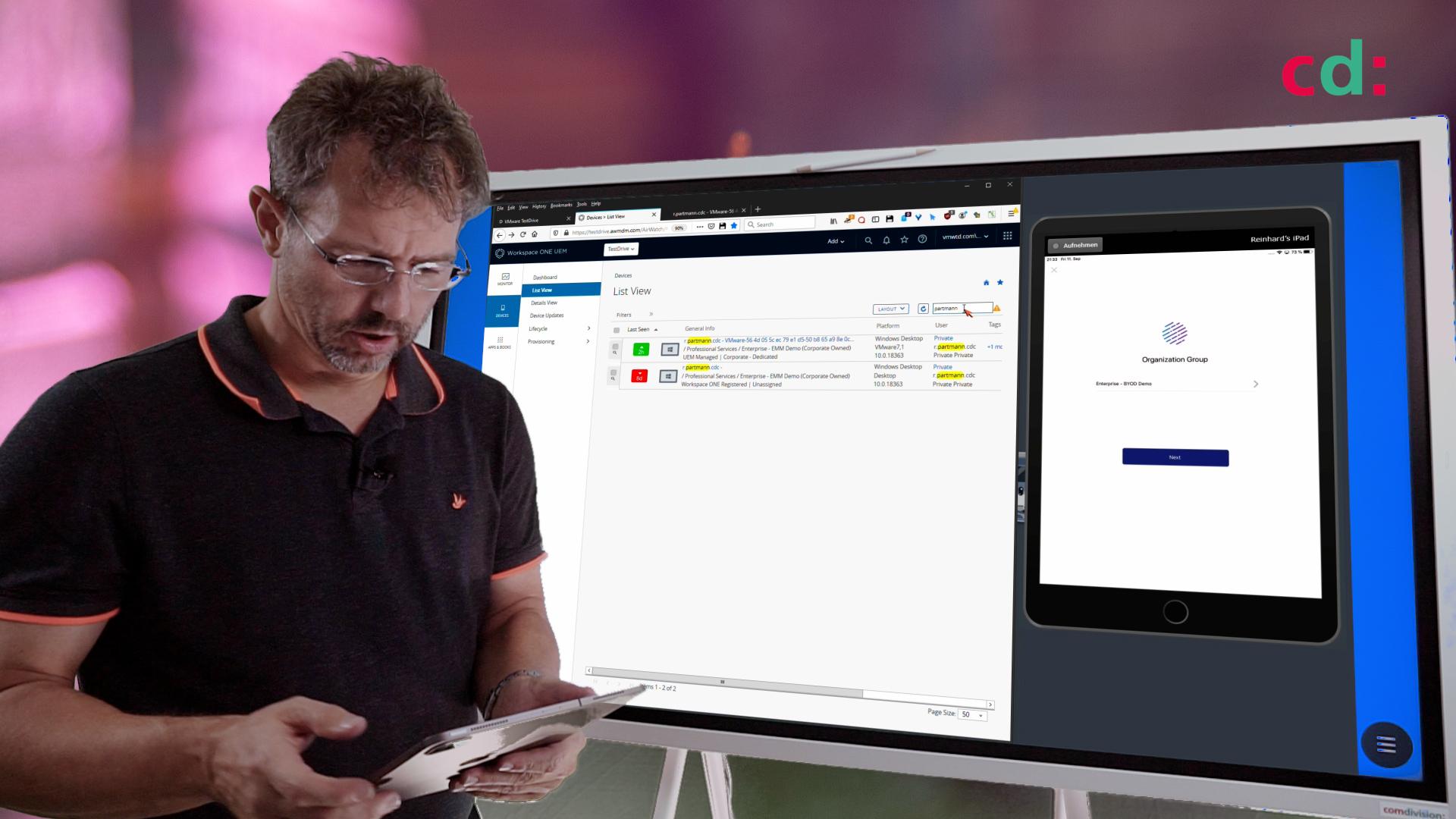 Workspace ONE Demo: iOS Geräte enrollen