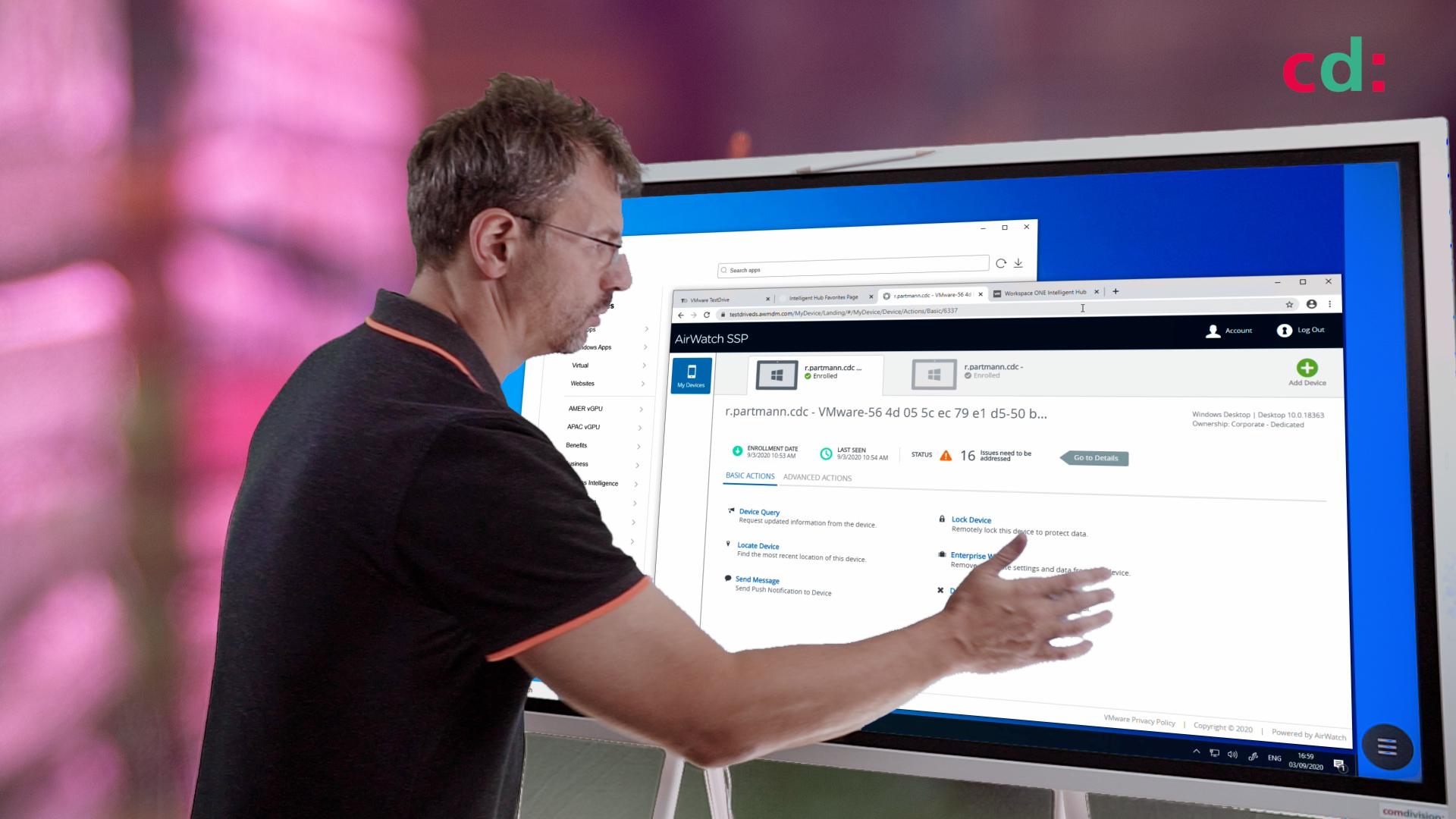 Workspace ONE Demo: Win10 Desktops registered oder managed enrollen