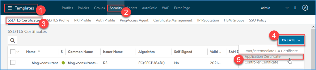 Initiate a Let's Encrypt certificate request from the NSX Advanced Load Balancer.