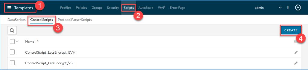 Create a ControlScript for Let's Encrypt on the NSX Advanced Load Balancer