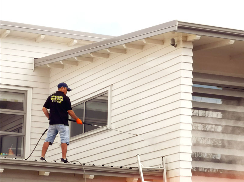 A residential house washing.