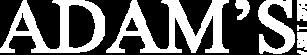 Adam's company logo in black and white