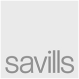 Savills comapny logo in black and white