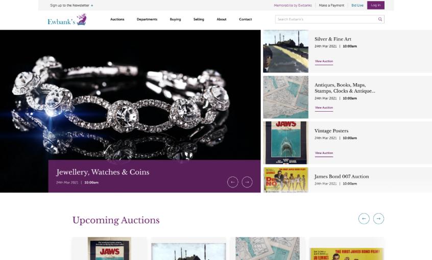 luxury goods auction website