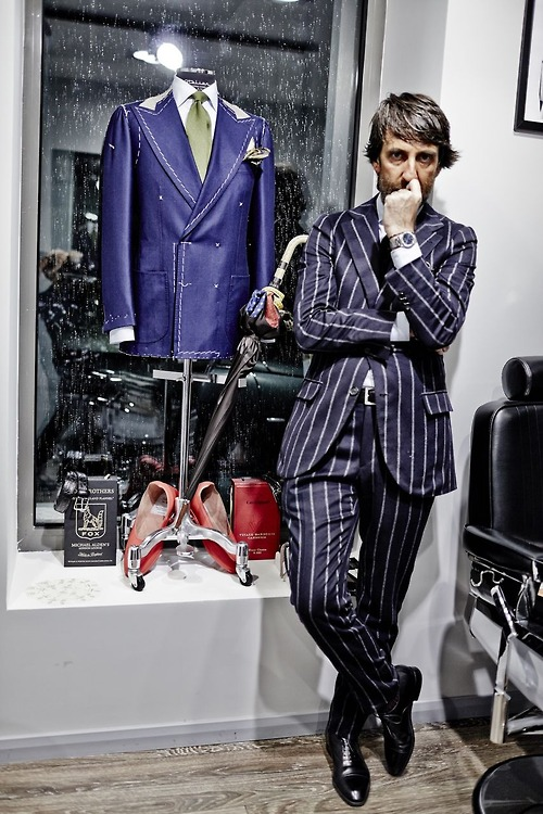 Andrea Luparelli in his shop