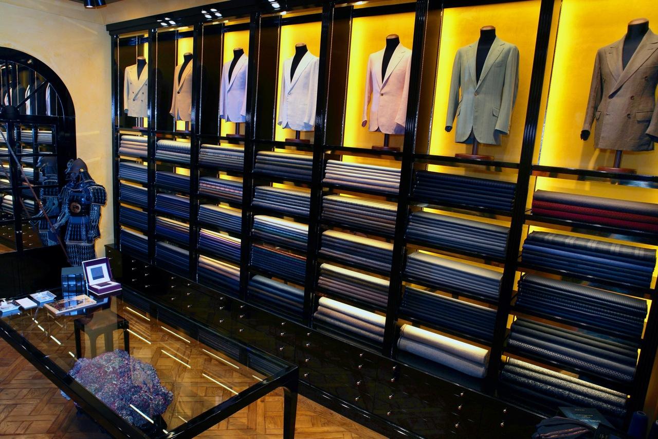 Salon Bespoke Rubinacci Milan