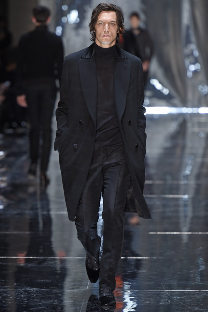 Berluti Manteau noir 2015