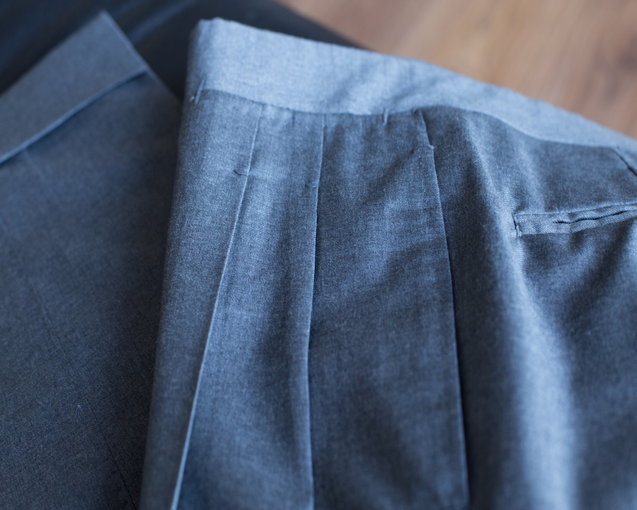 Ambrosi bespoke trousers details