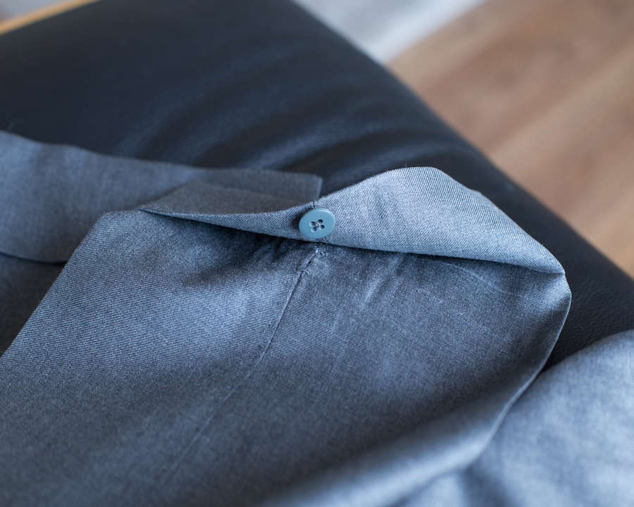 Ambrosi bespoke trousers buttoned cuffs